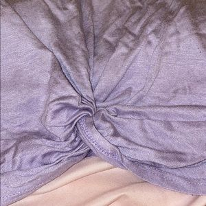 Urban Outfitters Tops - lavender crop top with tie front